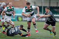 Harry Sloan of Ealing Trailfinders leaves defenders in his wake during the Championship Cup Quarter Final match between Ealing Trailfinders and Nottingham Rugby at Castle Bar , West Ealing , England  on 2 February 2019. Photo by Carlton Myrie / PRiME Media Images.