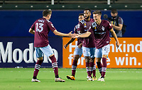 CARSON, CA - SEPTEMBER 19: Cole Bassett #26 of the Colorado Rapids celebrates his goal with team mate Sam Vines #13 during a game between Colorado Rapids and Los Angeles Galaxy at Dignity Heath Sports Park on September 19, 2020 in Carson, California.
