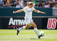 LA Sol's Christie Welsh readies herself for a shot on goal. The LA Sol defeated FC Gold Pride of the Bay Area 1-0 at Home Depot Center stadium in Carson, California on Sunday April 19, 2009.  ..  .