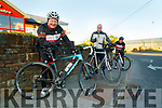Chain gang cycling club members John Murray, Dave Elton and Seamus O'Mahony during their thumbs up for UHK fundraiser on Saturday.