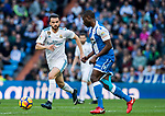 Borja Mayoral Moya of Real Madrid in action during the La Liga 2017-18 match between Real Madrid and RC Deportivo La Coruna at Santiago Bernabeu Stadium on January 21 2018 in Madrid, Spain. Photo by Diego Gonzalez / Power Sport Images