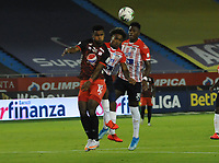BARRANQUILLA - COLOMBIA, 30-01-2021:Atlético Junior y América de Cali en partido por la fecha 3 como parte de la Liga BetPlay DIMAYOR 2021 jugado en el Metropolitano Roberto Meléndez  de la ciudad de Barranquilla. /Atletico Junior and America de Cali in match for the date 3 as part of the BetPlay DIMAYOR League I 2021 played at Metropolitano Roberto Meléndez  stadium in Barranquilla city. Photo: VizzorImage / Jesus Rico/ Contribuidor