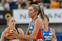 6th June 2021; Ken Rosewall Arena, Sydney, New South Wales, Australia; Australian Suncorp Super Netball, New South Wales, NSW Swifts versus Giants Netball; Helen Housby of NSW Swifts prepares to pass the ball
