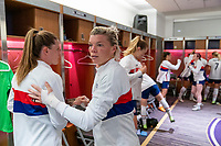 ORLANDO, FL - JANUARY 18: Jane Campbell #24 of the USWNT leaves the locker room before a game between Colombia and USWNT at Exploria Stadium on January 18, 2021 in Orlando, Florida.