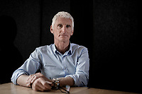 Pioneer Australian pro rider turned top cycling DS/manager Allan Peiper, portrayed during an interview for an Australian documentary by Dan Jones in Brakel (Belgium), 29 april 2021.<br /> <br /> ©kramon