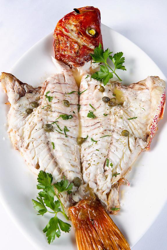 fresh fish fileted