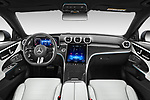 Stock photo of straight dashboard view of 2022 Mercedes Benz C-Class AMG-Line 5 Door Wagon Dashboard