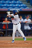 St. Lucie Mets Manny Rodriguez (13) during a Florida State League game against the Florida Fire Frogs on April 12, 2019 at First Data Field in St. Lucie, Florida.  Florida defeated St. Lucie 10-7.  (Mike Janes/Four Seam Images)