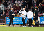 Arbroath v St Johnstone…15.08.21  Gayfield Park      Premier Sports Cup<br />A big smile on the face of Dick Campbell as his side go 2-1 up<br />Picture by Graeme Hart.<br />Copyright Perthshire Picture Agency<br />Tel: 01738 623350  Mobile: 07990 594431