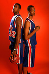 Anthony Randolph (4) and DeAndre Jordan (32) on August 31, 2006 in New York, New York.  Randolph currently attends Woodrow Wilson High School and will play for LSU in the fall of 2007 while Jordan attends Christian Life Academy and will play for Texas A&M in the fall of 2007.  The players were in town for the Elite 24 Hoops Classic, which brought together the top 24 high school basketball players in the country regardless of class or sneaker affiliation.