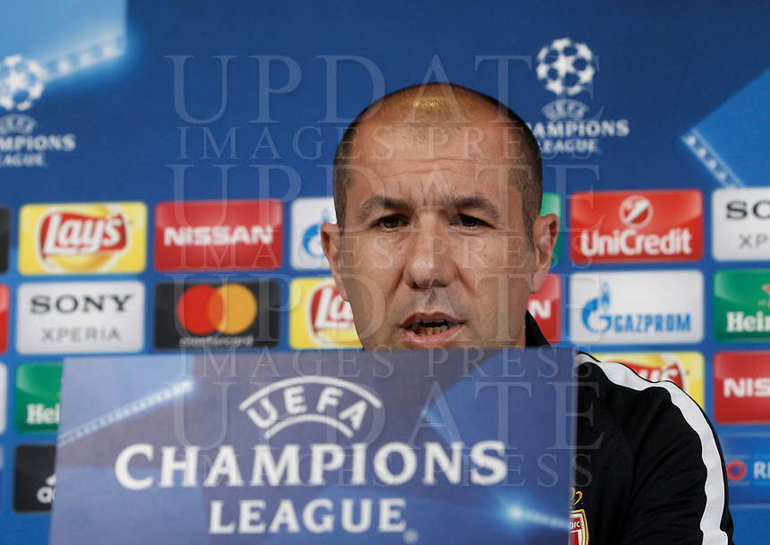 Football Soccer - Monaco Press Conference- Uefa Champions League, Juventus stadium, Turin, Italy, May 8, 2017.<br /> Monaco's coach Leonardo Jardim during the press conference before the semifinal against Juventus.