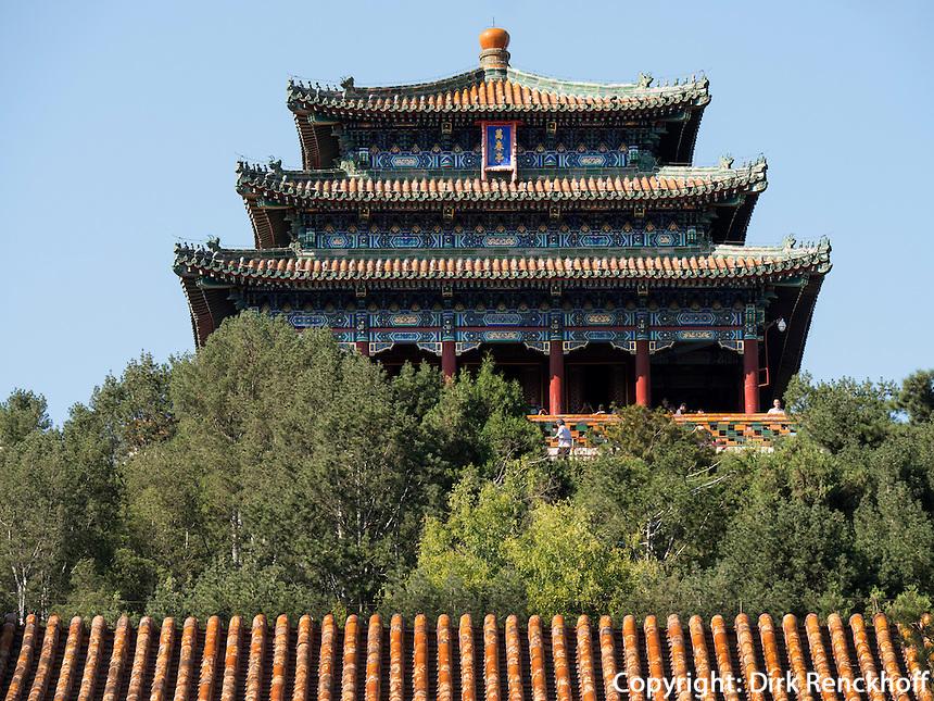 Jingshan-Hügel, Peking, China, Asien<br /> Jingshan hill, Beijing, China, Asia