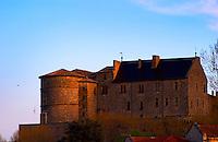 The Chateau de Tournon. Built on a cliff in the 14th fourteenth and 15th fifteenth century by the seigneurs de Tournon. Tournon-sur-Rhone, Ardeche Ardèche, France, Europe