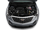 Car Stock 2022 Cadillac XT5 Premium-Luxury-2.0L-FWD 5 Door suv Engine  high angle detail view