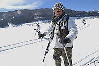 - winter training of Alpini mountain troops at Roccaraso....- addestramento invernale degli Alpini a Roccaraso