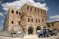 Building being restored in Mardin, southeastern Turkey