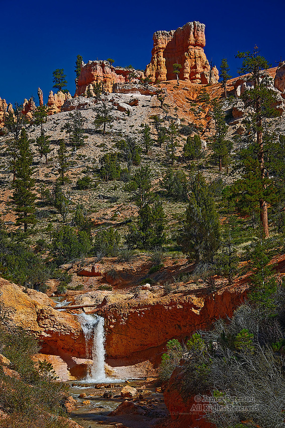 Waterfall, Eastern Bryce Canyon, Utah
