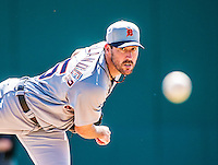 16 March 2014: Detroit Tigers pitcher Justin Verlander on the mound during a Spring Training Game against the Washington Nationals at Space Coast Stadium in Viera, Florida. The Tigers edged out the Nationals 2-1 in Grapefruit League play. Mandatory Credit: Ed Wolfstein Photo *** RAW (NEF) Image File Available ***