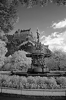 Infrared photos of Edinburgh Castle, Edinburgh Scotland