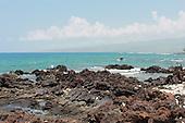 Lava Rocks Await Sea Waves