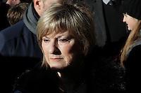 A sister of Celine Dion attend the funeral of Rene Angelil, , Friday Jan. 22, 2016 at Notre-Dame Basilica in Montreal, Canada.<br /> <br /> <br /> <br /> <br /> <br /> <br /> <br /> <br /> <br /> <br /> <br /> <br /> <br /> .