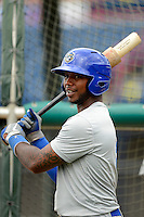 Daytona Cubs outfielder Taiwan Easterling #5 during practice before a game against the Brevard County Manatees at Spacecoast Stadium on April 5, 2013 in Viera, Florida.  Daytona defeated Brevard County 8-0.  (Mike Janes/Four Seam Images)