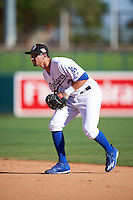 Glendale Desert Dogs Tim Locastro (3), of the Los Angeles Dodgers organization, during a game against the Mesa Solar Sox on October 20, 2016 at Camelback Ranch in Glendale, Arizona.  Glendale defeated Mesa 3-2.  (Mike Janes/Four Seam Images)