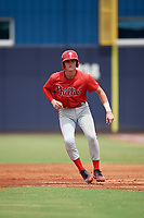 GCL Phillies East Curtis Mead (38) leads off during a Gulf Coast League game against the GCL Yankees East on July 31, 2019 at Yankees Minor League Complex in Tampa, Florida.  GCL Phillies East defeated the GCL Yankees East 4-3 in the second game of a doubleheader.  (Mike Janes/Four Seam Images)