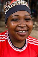 Tanzania.  Mto wa Mbu.  Middle-aged Tanzanian Woman Smiling.
