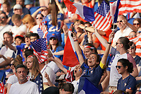 PARIS, FRANCE - JUNE 28: Fans during a 2019 FIFA Women's World Cup France quarter-final match between France and the United States at Parc des Princes on June 28, 2019 in Paris, France.