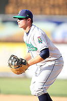 April 17 2010: Eric Oliver of the Cedar Rapids Kernels at Elfstrom Stadium in Geneva, IL. The Kernels are the Low A affiliate of the Los Angeles Angels. Photo by: Chris Proctor/Four Seam Images