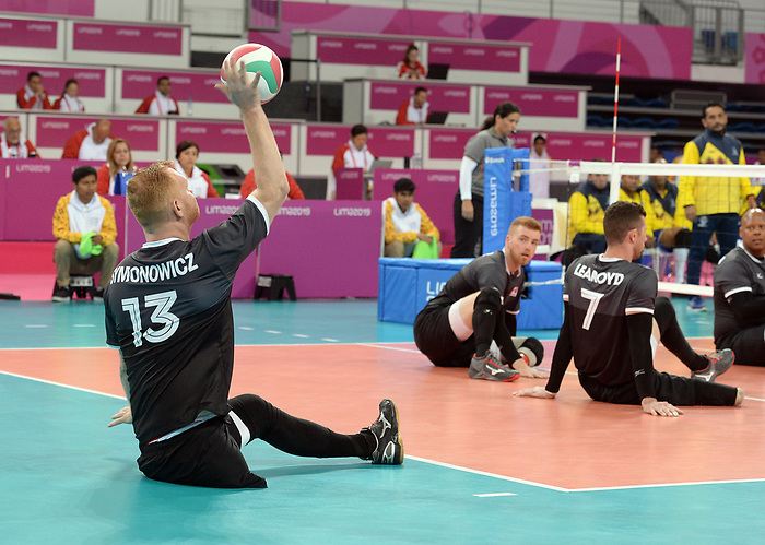 Darek Symonowics, Lima 2019 - Sitting Volleyball // Volleyball assis.<br /> Canada competes in men's Sitting Volleyball // Canada participe au volleyball assis masculin. 24/08/2019.
