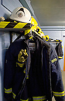 Firefighters kit room. This image may only be used to portray the subject in a positive manner..©shoutpictures.com..john@shoutpictures.com