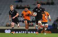NZ's Akira Ioane in action during the Bledisloe Cup rugby match between the New Zealand All Blacks and Australia Wallabies at Eden Park in Auckland, New Zealand on Saturday, 14 August 2021. Photo: Simon Watts / lintottphoto.co.nz / bwmedia.co.nz