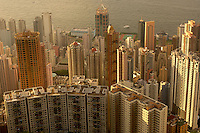 Overlooking the properties on Hong Kong Island from the Peak, Hong Kong..