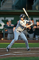 Vince Fernandez (8) of the Grand Junction Rockies at bat against the Ogden Raptors in Pioneer League action at Lindquist Field on August 24, 2016 in Ogden, Utah. The Raptors defeated the Rockies 11-10. (Stephen Smith/Four Seam Images)