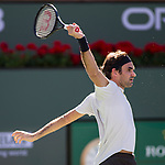 March 11, 2018: Roger Federer (SUI) defeated Federico Delbonis (ARG) 6-3, 7-6 (6) at the BNP Paribas Open played at the Indian Wells Tennis Garden in Indian Wells, California. ©Mal Taam/TennisClix/CSM