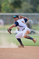 Isaac Nunez during the WWBA World Championship at the Roger Dean Complex on October 20, 2018 in Jupiter, Florida.  Isaac Nunez is a shortstop from Orlando, Florida who attends Lake Brantley High School and is committed to Florida.  (Mike Janes/Four Seam Images)