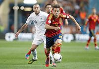 Spain's national team Jordi Alba against France's national team Menez during match. October 16, 2012. (ALTERPHOTOS/Alvaro Hernandez) /NORTEPhoto