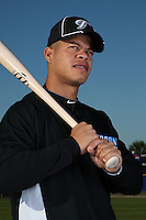 March 1, 2010:  Infielder Jesus Merchan (68) of the Toronto Blue Jays poses for a photo during media day at Englebert Complex in Dunedin, FL.  Photo By Mike Janes/Four Seam Images