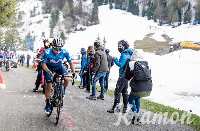 Einer Augusto Rubio (COL/Movistar) up the final part of the Monte Zoncolan <br /> <br /> 104th Giro d'Italia 2021 (2.UWT)<br /> Stage 14 from Cittadella›Monte Zoncolan (205km)<br /> <br /> ©kramon