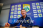 Kerry manager Jack O'Connor at a press conference at Austin Stack park on Friday.