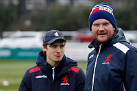 London Scottish head coach, Nic Rouse during the Greene King IPA Championship match between Ealing Trailfinders and London Scottish Football Club at Castle Bar , West Ealing , England  on 19 January 2019. Photo by Carlton Myrie/PRiME Media Images