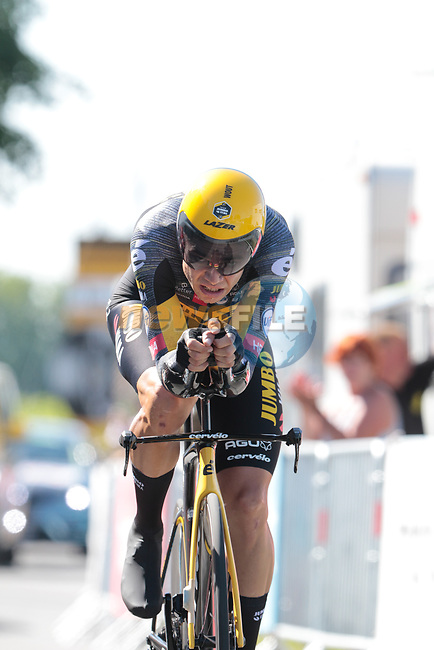 Wout Van Aert (BEL) Jumbo-Visma during Stage 20 of the 2021 Tour de France, an individual time trial running 30.8km from Libourne to Saint-Emilion, France. 17th July 2021.  <br /> Picture: Colin Flockton | Cyclefile<br /> <br /> All photos usage must carry mandatory copyright credit (© Cyclefile | Colin Flockton)