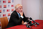 Gordon Strachan at the draw for the Homeless World Cup today