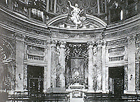 The Church of Saint Andrew's at the Quirinal, a Roman Catholic church in Rome, Italy. Designed by Bernini. 1658-1665.
