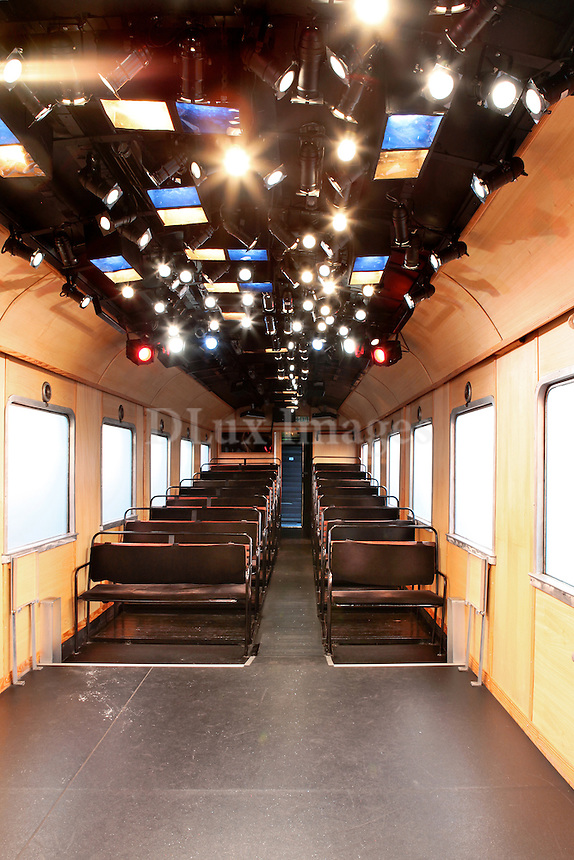 theatrical stage on train wagon