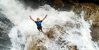 Photography Green River Adventures Big Bradley Waterfall Rappel in Saluda, North Carolina.<br /> <br /> Photographer - Patrick SchneiderPhoto.com