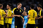 Borussia Dortmund manager Thomas Tuchel (c) instructs his squad during the match against Manchester City FC at the 2016 International Champions Cup China match at the Shenzhen Stadium on 28 July 2016 in Shenzhen, China. Photo by Victor Fraile / Power Sport Images