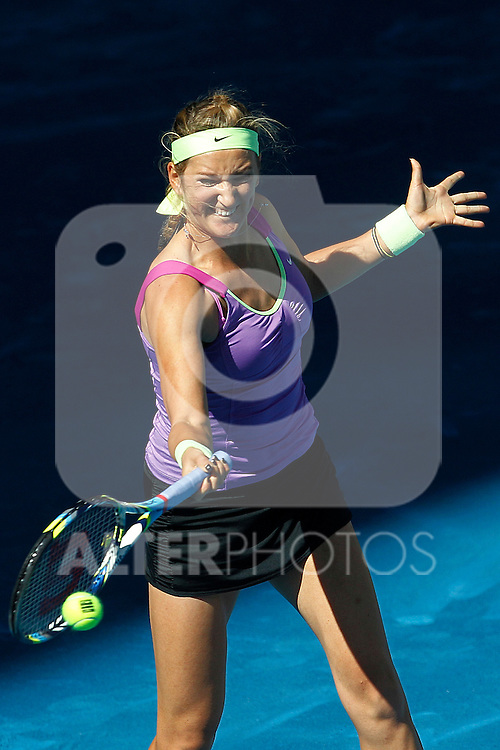 Victoria Azarenka (BLR) during Mutua Madrid Open 2012 match on may 6th 2012...Photo: Cesar Cebolla / ALFAQUI